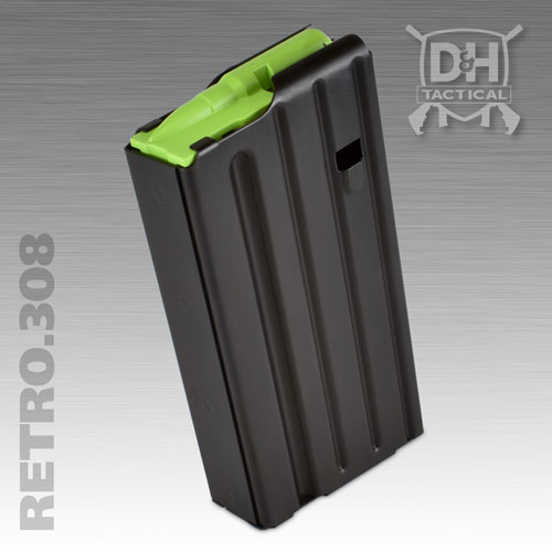 Retro .308 - 7.62 x 51 / .308 Winchester Firearm AR10 Magazine